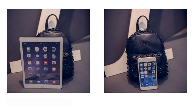 Black Mini Backpacks for women's Lady's Back packs PU Leather Bags ...