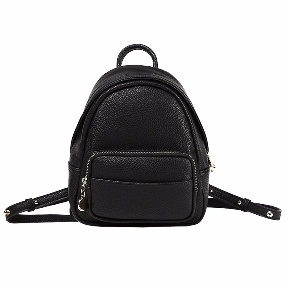 brand mini backpack women new fashion pu leather small backpacks solid school bag for teenager