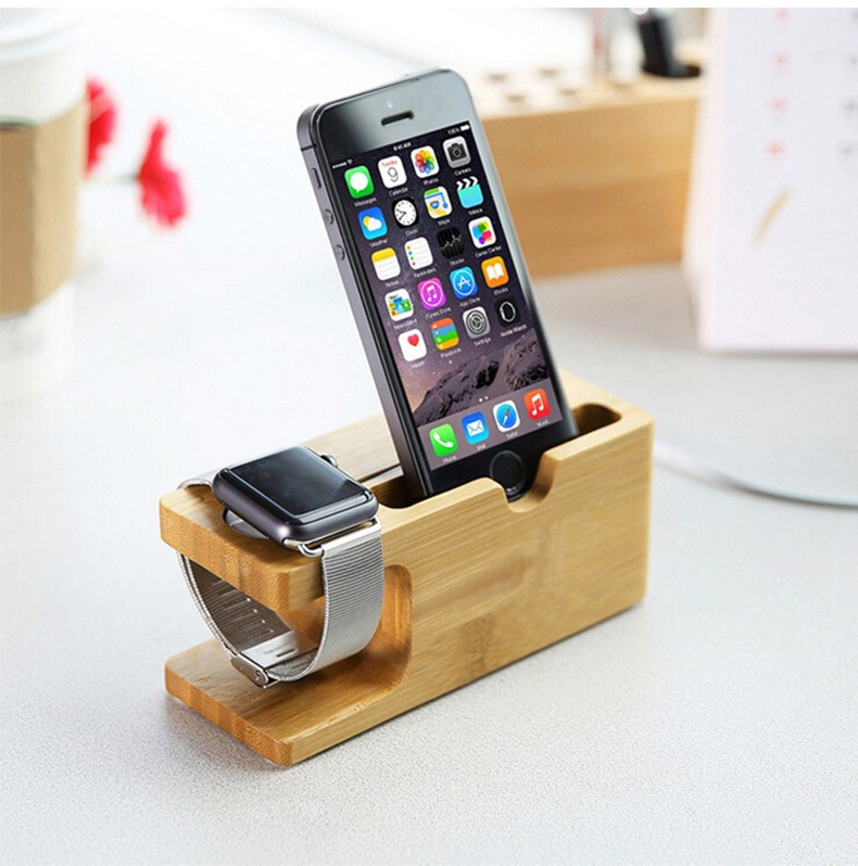 Universal Classic Wooden Mobile Phone Stand Desk Phone Holder for