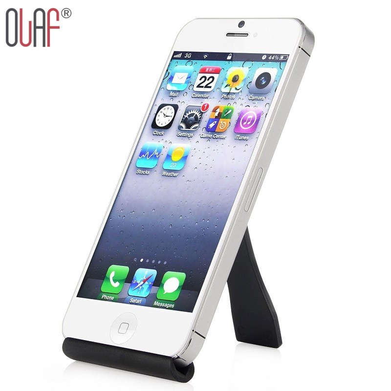 Universal Black Mobile Phone Stand Flexible Desk Phone Holder For