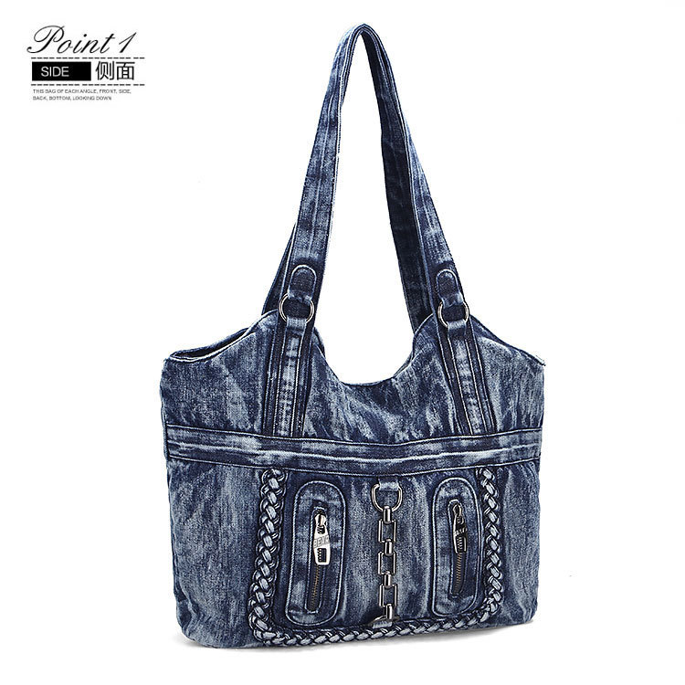 Vintage Denim Shoulder Handbags 2017 Large Luxury Handbags Women ...