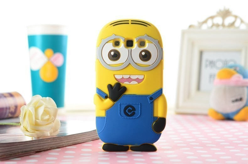 Minions Phone Case 3D Cartoon Soft Silicone Case for Samsung Cartoon Phone Cases Personalised Phone Case Funny Phone Cases Cute Phone Cases Minions Case