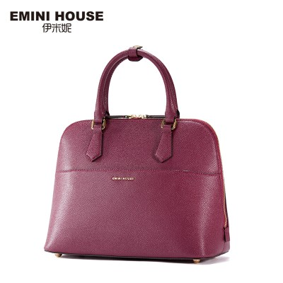 EMINI HOUSE Fashion Shell Bag Split Leather Handbag Women Messenger Bags Women Shoulder Bags High Quality Ladies Crossbody Bag