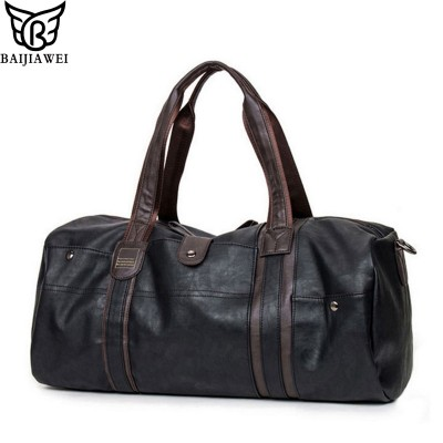 BAIJIAWEI New Arrival Oil Wax Leather Handbags For Men Large-Capacity Portable Shoulder Bags Men's Travel Bags Travel Package