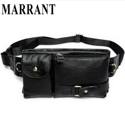 MARRANT Genuine Leather Waist Bag Men Fashion Belt Bags Men's Small Bags Male Small Pack  Man Casual Crossbody Shoulder Bag 9080