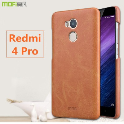 Xiaomi Redmi 4 pro case cover MOFi original Xiaomi Mi Redmi 4 pro case leather cover hard back case capa coque funda 32gb 5.0""