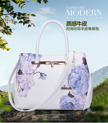 Brand Chinese style printing lady bag temperament flower pattern handbag wild single shoulder Messenger bag retro