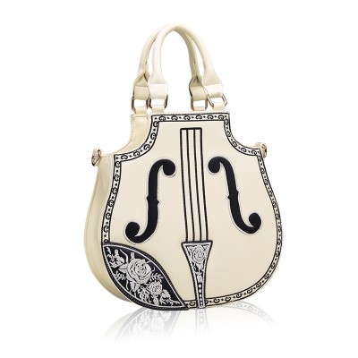 2015 Fashion Violin Handbag Women Vintage Leather Messenger Bags Lolita Gothic Palace Embroidered Flower Tote Bag bolsas