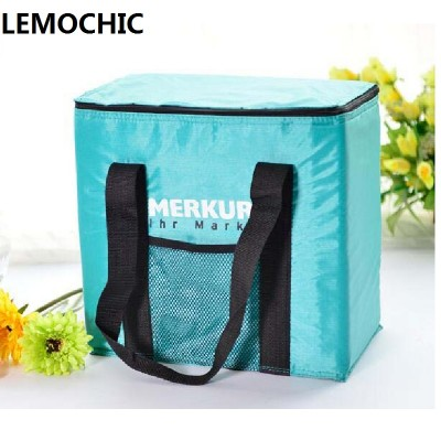 High quality 600D Oxford cloth Family neverasset Waterproof Insulated lunch cooler box picnic basket camping picnic bag