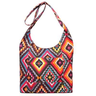 MISS LULU Hippie Festival Sling Shoulder Bag Elephant Diamond Print Canvas Cross Body Satchel E6630