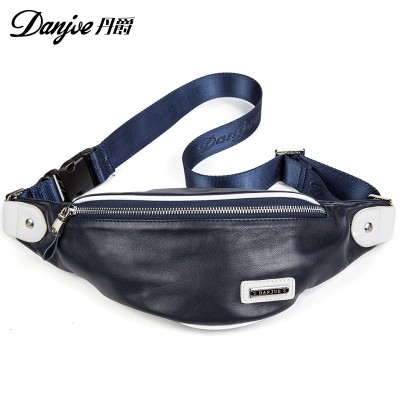 Genuine Leather Men's Waist packs natural leather Cross-Body bags for men Casual Men mini Waist Money Pack