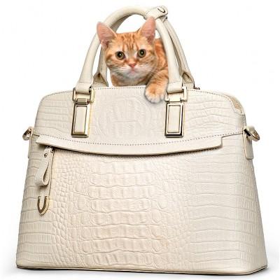 Classic Croc Women Bag Big Brand Luxury 2017 Women Messenger Handbags 100% Genuine Leather Elegant Female Bag 52ZD