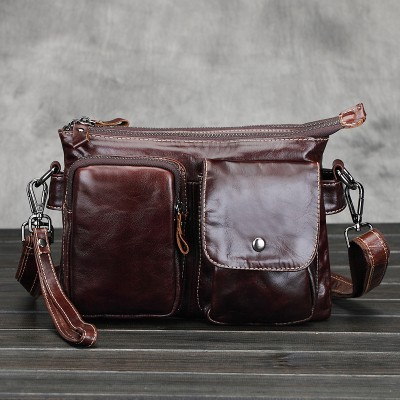 2017 Sale Flap Genuine Leather Vintage Solid Bag Color Single Real Men Shoulder Messenger Bags Designer Briefcase Satchel Mens