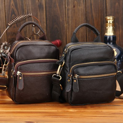Leather Fanny Pack new 100% genuine leather men waist packs man cowhide black fashion fanny pack bag with cellphone pocket belt bag for man