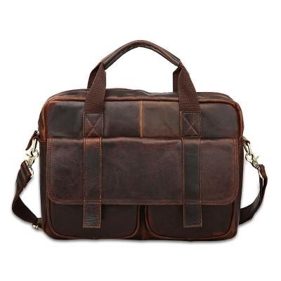 Soft Maletin Hombre Real Cowhide Leather Men Bags Vintage Handbags Briefcase Laptop Shoulder Cross Body Bag Business Tote