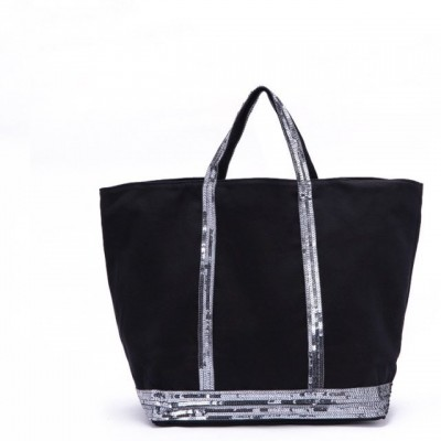 LuxusFamous French styles Women Handbag Canvas Bag Sparkling bags Fashion Sequins Tote bags New Paillette Shopping  bags