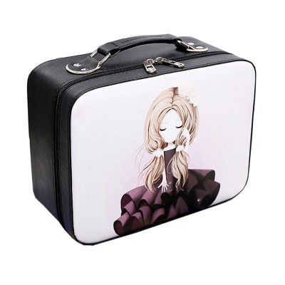 Cosmetic Makeup Organizer Portable Travel Cosmetic Makeup Toiletry Wash Storage Case Professional Beauty Vanity Makeup Case Box
