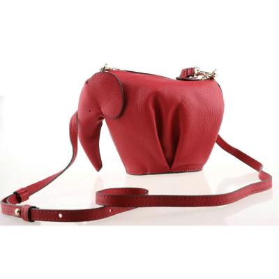 Fast express shipping genuine leather elephant bag womens customized color luxury cross body animal handbag