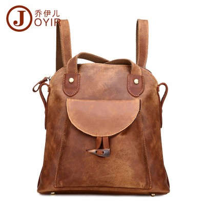 New style Retro Cow Leather backpack Fashion shoulder bags mini backpacks for teenage girls Genuine Leather backpack