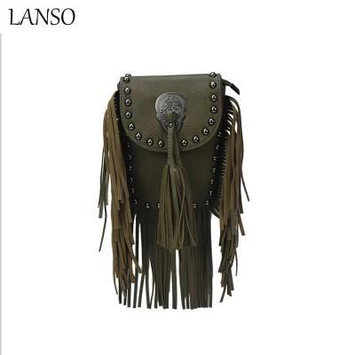 Rock Style Cool Girl Messenger Bags Personality Trendy Handbags Skeleton Head Shoulder & Amp Crossbody Bags Street Punk Lovers