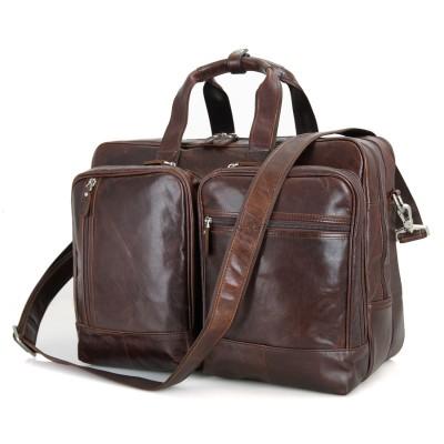 2017 Promotion Male Briefcases Natural Cow Leather Laptop 17inch Business Bags Men Large Handbags Travel Messenger Shoulder Bag