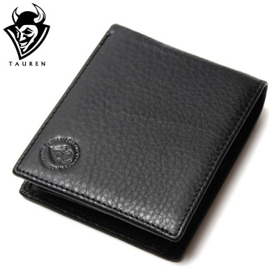 Black Leather Men Wallet Genuine Cow Leather Office Mens Vintage Wallets