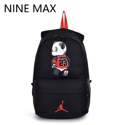 High Quality 23 Unisex Canvas Backpack Utility Lovers Bag Mochilas Laptop Rucksack  AJ Panda Fashion School Bags for Teenagers