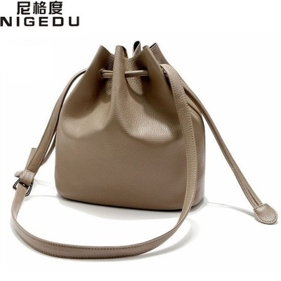 Simple classic eurp american style bucket Crossbody Bags High quality PU leather women shoulder bag women handbag