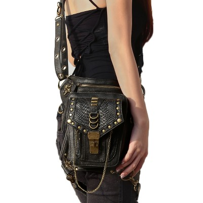 Men Women Waist Pack travel Shoulder Bag Phone Case Holder leg women messenger bags Fashion Gothic Steampunk bag GTLY-FGB08