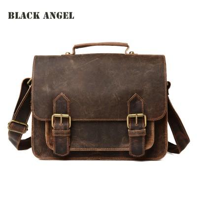 Genuine Leather men messenger bags casual men cow leather briefcase fashion designer male crossbody shoulder bags