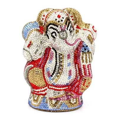 Designer woman hand bags luxury animal clutch elephant inspired handbag laides crystal evening purses cartoon mini wedding bag