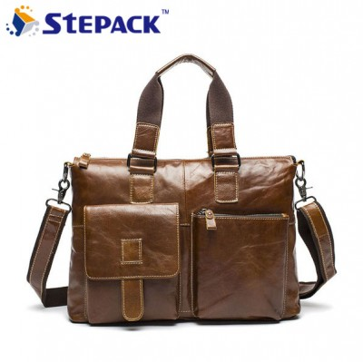 2017 High Quality Genuine Leather Men Bag Casual Men Handbag Men Shoulder Bag Business Bag Male Messenger Bag WMB0108