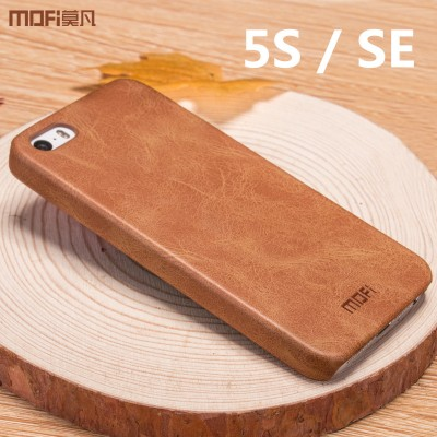 MOFi Case for iphone SE case cover for iphone 5s case MOFi original leather back cover hard capa coque funda
