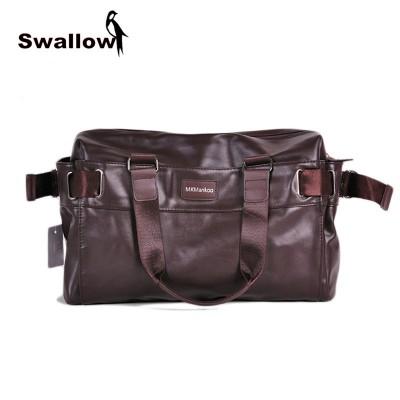 Large Capacity Men's Travel Shoulder Bag PU Leather VIntage Hight Quality Multifunctional Totes Handbag Zipper Spring Business