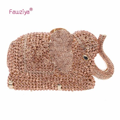 Fawziya Bags Handbags Women Crystal Elephant Clutch Purse Wedding Handbags And Clutches