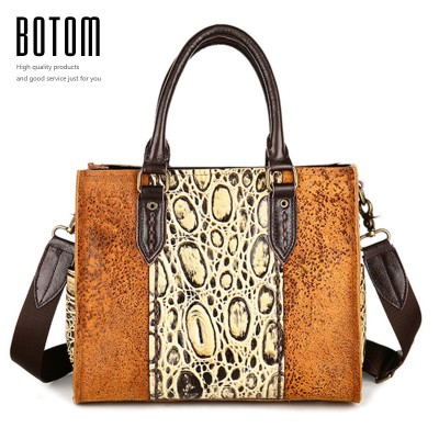 Sexy Bag New Luxury Designer Tote Bag Genuine Leather Shoulder Bag Sexy Leopard Pattern Orange Handbags Famous Women Large Capacity Bags