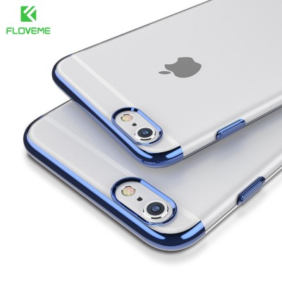 Phone Case For iPhone 6 6S 7 Plus Plating Case Slim Soft TPU Silicone Clear Cover For Huawei P10 Plus OPPO R9S R9S Plus Xiaomi Mi6