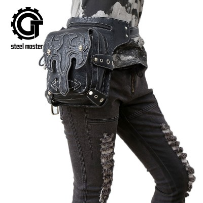 Steelsir Unisex Retro Rock Steam Punk Messenger Shoulder Bags Gothic Style Mobile Phone Mini Men And Women Travel Waist Bags
