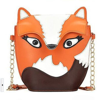 Owl Women Leather Handbag Cartoon Bag Fox Shoulder Bags Women Messenger Bag 30PCS/lot