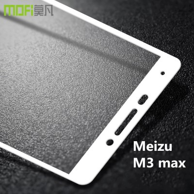 meizu m3 max glass MOFi original meilan max tempered glass full cover screen protector white  HD film front guard 6 inch