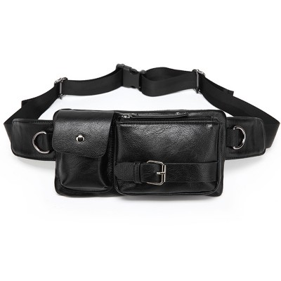 Leather Fanny Pack Black Brown Waist Bags PU Leather Waist Pack Men Fanny Pack Waist Bag Mens Fanny Pack Thigh Men's bag High Quality