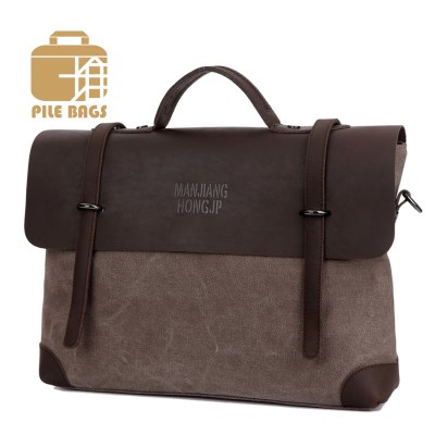 High Quality Vintage Business Big Size Women Bag Brown Men Crazy Horse Leather Briefcases Women Messenger Bags Handbag Wholesale