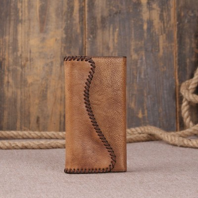 Direct Selling Vintage Genuine Leather Women Wallet Long Coin Pocket Purse Phone Female Card Holder Pures Money Clutch Wallets