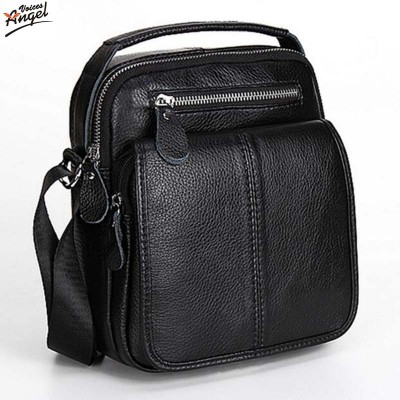 Fashion Genuine Leather Men's Messenger Bags Man Portfolio Office Bag Quality Travel Shoulder Handbag for Man 2017 Dollar Price