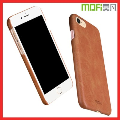 MOFI Phone Case for iphone 8 case PU leather back cover hard case for iphone 8 plus case  funda housing for iphone 8 cover brown navy 4.7