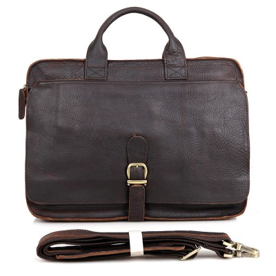 2017 Sale Rushed Totes Vintage Crazy Horse Genuine Leather Bags Large Capacity Mens Shoulder Cowhide Male 15 Inch Laptop Bag