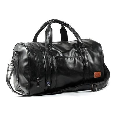2017 New Arrival Men Bag Pu Leather Men's Travel Bags Casual Duffle Bags Bucket Handbags One Shoulder Cross Body Bag