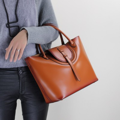 2017 Genuine Leather Women Handbag Cowhide Casual Totes Shoulder Messenger Fashion Women Bag Big Capacity