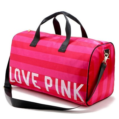 Sexy Bag Women Fashion Sexy Love Pink Handbags Barrel-Shaped Large Capacity Travel Duffle Striped Waterproof Beach Bag Shoulder Bag