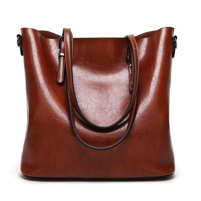 Women Shoulder Bags Large Capacity Handbags Waxy Pu Leather Big Tote Bag For Women Fashion Design Crossbody Bag Female Bolsas